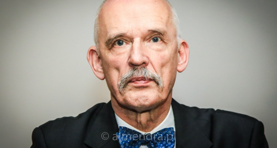 Janusz Korwin-Mikke, Polish Presidential candidate, election meeting in Tarnow, Poland